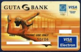 RUSSIA - RUSSIE - RUSSLAND GUTA BANK VISA ELECTRON BANK CARD SUMMER OLYMPIC GAMES ATHENS 2004 GREECE PERFECT CONDITION - Cartes De Crédit (expiration Min. 10 Ans)