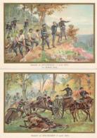 Bataille De SPICHEREN Rother Berg  Kaninchen Berg Belles Images De 1894-1895 Illustration Germain - Army & War