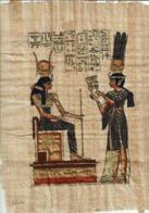 Véritable Papyrus  Egyptien Fait Main ( Représentant La Reine NEFERTI (29 X 22) - Prints & Engravings