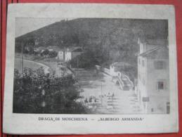 Kroatien Mošćenička Draga / Draga Di Moschiena - 4 Seiten - Werbefolder: Hotel Pension / Albergo Armanda - Keine AK! - Croatie