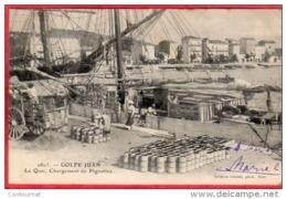 CPA 06 GOLFE JUAN Le Quai , Chargement Des Pignattes ( Juan Les Pins , ANtibes ) - Dos Ligné 1903 - Antibes