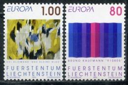 LIECHTENSTEIN 1993 1054-1055 EUROPE - Contemporary Art - Europa-CEPT