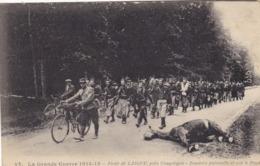 60  FORET DE LAIGUE. GUERRE 14-18 .ZOUAVES PATROUILLANT SUR LE FRONT. + TEXTE DU 10 FEVRIER 1915 - Guerra 1914-18