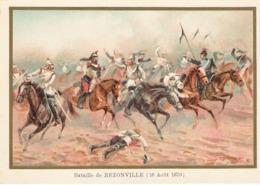 Bataille De REZONVILLE  Belle Image De 1894-1895 Illustration Germain - Army & War