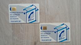France Telecom  - Telecarte 50 - 2 Exemplare - Unclassified