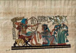 Véritable Papyrus Egyptien Fait Main (24 X 36 ) Ramsos Et Sphinx - Prints & Engravings
