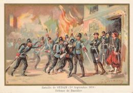 Bataille De Sedan Défense De Bazeilles  Cuirassiers Belle Image De 1894-1895 Illustration Germain - Army & War