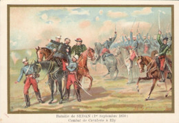 Bataille De Sedan Cavalerie  à Illy  Belle Image De 1894-1895 Illustration Germain - Army & War