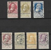 OCB Nr 74/80 Leopold II - Complete Set !! - 1905 Barbas Largas