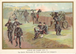 Siège De Paris Garde Nationale  Belle Image De 1894-1895 Illustration Germain - Army & War