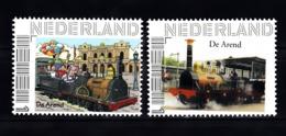 "Trein, Train, Locomotive, Eisenbahn Nederland  Persoonlijke Zegel"" De Arend 2x - Trains"