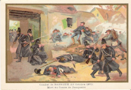 Combat De Bagneux   Belle Image De 1894-1895 Illustration Germain - Army & War