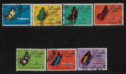SOMALIA - 1963 - Serie Di 7 Valori Usati Di Posta Aerea - FAUNA - FARFALLE DIVERSE - In Buone Condizioni. - Somalia (1960-...)