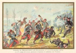 Bataille De Champigny   Belle Image De 1894-1895 Illustration Germain - Army & War