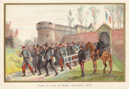 Prise Du Fort De Ham  Belle Image De 1894-1895 Illustration Germain - Army & War