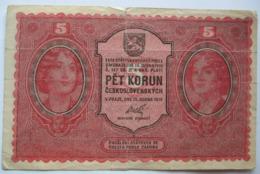 5 Kronen / Pet Korun 1919 (WPM 7) - Tchécoslovaquie