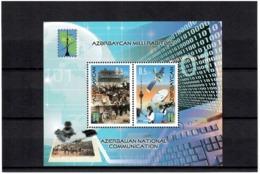 Azerbaijan 2013 . National Communication. PCC. S/S Of 2v X0.5.  Michel # BL 134 - Azerbaiján