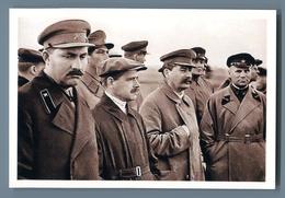 STALIN And Comrade-in-arms Ally Comminist Propaganda Russian Unposted Postcard - Politica