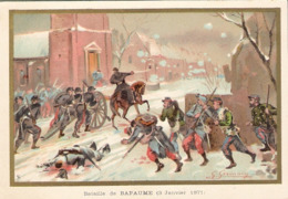 Bataille De BAPAUME Belle Image De 1894-1895 Illustration Germain - Army & War