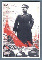 STALIN WWII Military Parade Red Square Tanks Propaganda Russian Unposted Postcard - Politica