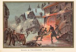 Bataille De VILLERSEXEL Belle Image De 1894-1895 Illustration Germain - Army & War