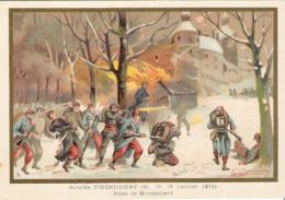 Bataille D' HERICOURT Prise De MONTBELIARD  Belle Image De 1894-1895 Illustration Germain - Army & War