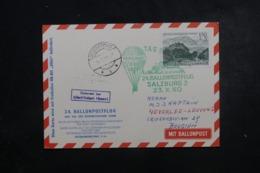 AUTRICHE - Carte Par Ballon En 1960 , Cachets Plaisants , à Voir - L 44371 - Ballonpost