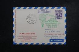 AUTRICHE - Carte Par Ballon En 1960 , Cachets Plaisants , à Voir - L 44372 - Ballonpost