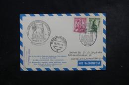 AUTRICHE - Carte Par Ballon En 1959 , Cachets Plaisants , à Voir - L 44373 - Ballonpost