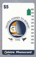 AU.- Telstra Phonecard $5. TELSTRA SYDNEY TO HOBART 1996. AUSTRALIA. 0132117380. - Deportes