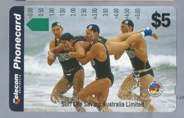 AU.- Telelecom Phonecard $5. Surf Life Saving Australia Limited. AUSTRALIA. 0053545859. - Sport