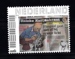 Nederland  Persoonlijke Zegel: Tin-tin, Kuifje Met Bobby, Unieke Kuifjeskrant - Periodo 2013-... (Willem-Alexander)
