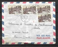 Réunion  Lettre  Par Avion  Du 12  06 1959   De  Saint Louis  Pour  Besançon Cachet D' Arrivée 22 12 - Réunion (1852-1975)