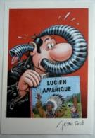 EX LIBRIS SOLE N°196/250 SIGNE HOMMAGE A TINTIN LUCIEN - Ex-libris