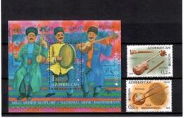 Azerbaijan 2014 . EUROPA 2014 (Music Instruments). 2v: 0.2, 0.6 + S/S :1.00.   Michel # 1038-39 + BL 139 - Azerbaiján