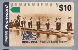 AU.- Telelecom Phonecard $10. 1894-1994. Royal Life Saving Society Australia. AUSTRALIE. 0053781490. - Deportes