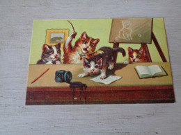 Chat ( 126 )  Kat  -  Carte Gaufrée  Reliëf - Chats