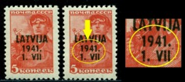 1941 Miner,Bergmann,German Occupation,Letonia,Mi.1,MNH,ERROR - Lettland