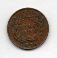 BRITISH INDIA - SARAWAK, 1/2 Cent, Copper, 1870, KM #5 - Indien