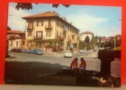 BIELLA PIAZZO Bottalino Animata Auto Cars Insegne Pubblicità Cinzano Coca Cola CARTOLINA  Viaggiata 1968 - Biella