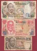 Botswana 3 Billets Dans L 'état - Botswana