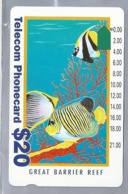 AU.- Telelecom Phonecard $20. GREAT BARRIER REEF Australia. AUSTRALIE. 0025549594. - Vissen
