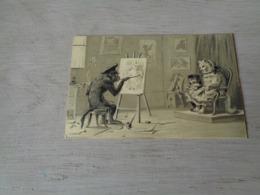 Chat ( 134 )  Kat  -  Carte Gaufrée  Reliëf  -  Chat Personalisé -   Singe Personalisé  Aap - Chats