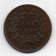 BRITISH INDIA - SARAWAK, 1 Cent, Copper, 1863, KM #3 - India