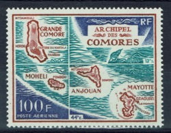French Comoros, Map Of The Comoros, 1971, MNH VF airmai - Unused Stamps