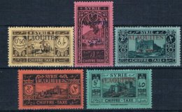 Alaouites Taxe N°6 à 10 Neuf*. - Alaouites (1923-1930)