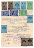 1953 YUGOSLAVIA, CROATIA, SPLIT, 12 REVENUE STAMPS - 1945-1992 Socialist Federal Republic Of Yugoslavia