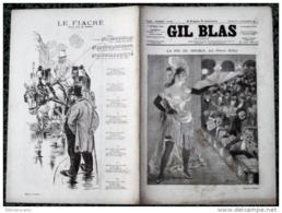 *GIL BLAS Illustré*N°14-27/09/1891:LA FIN DU DOUBLE P/P.DUFAY+CHANS.:LE FIACRE P/ XANROF+DESSIN STEINLEN - Magazines - Before 1900