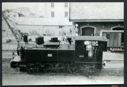 Photo 128 X 87 - Pontarlier ?? - Locomotive Type 040 N° 21 - Au Dos Légendé Ex. Glos-Montfort - Voir 2 Scans - Trains