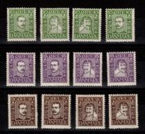Danemark - YV 153 à 164 N* Complete - 1913-47 (Christian X)